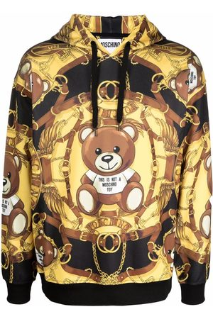 Moschino Men Hoodies - Teddy-print long-sleeved hoodie
