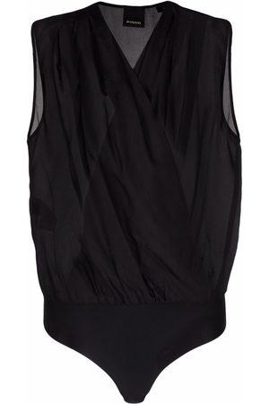 Pinko Women Bodies - Sleeveless wrap-front bodysuit