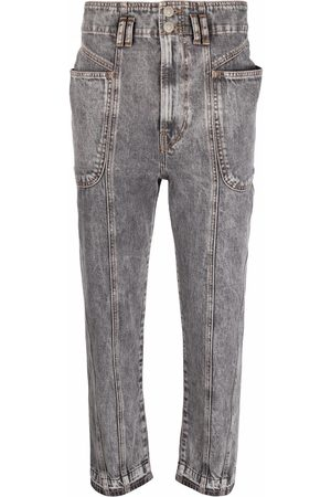 Isabel Marant Women High Waisted - High-rise cropped jeans - Grey