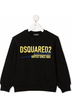 Dsquared2 Boys Hoodies - Logo slogan sweatshirt