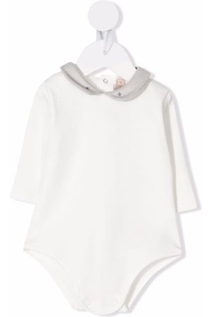LA STUPENDERIA Long-sleeved round-collar romper