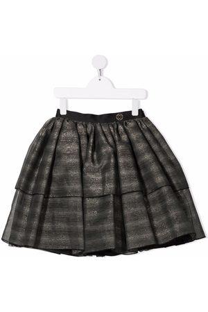 Elie saab Striped tiered miniskirt