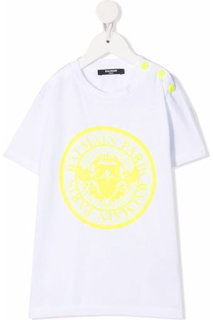 Balmain Boys Short Sleeve - Logo-print short-sleeved T-shirt