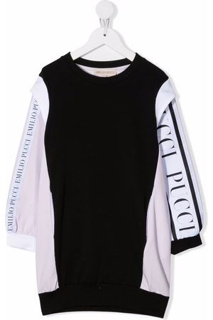 Emilio Pucci Girls Casual Dresses - Colour-block logo sweater dress