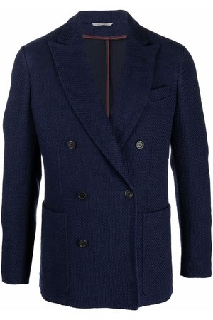 CANALI Men Blazers - Double-breasted wool blazer