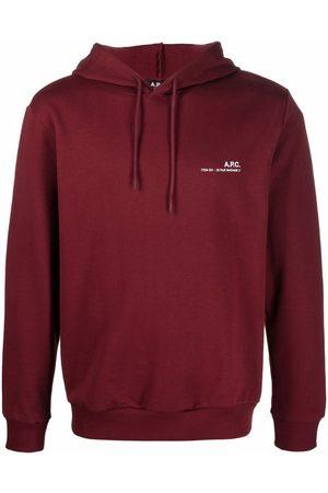 A.P.C. Chest logo-print hoodie