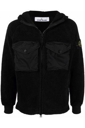 Stone Island Men Fleece Jackets - Compass-patch fleece jacket