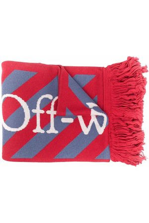 OFF-WHITE Men Scarves - Striped fringed scarf