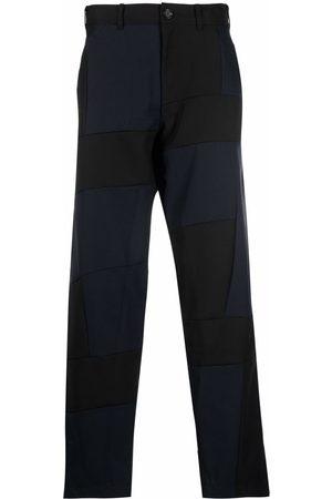 Comme des Garçons Men Wide Leg Pants - Patch-work wide-leg trousers