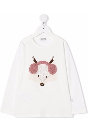 Il gufo Embroidered long-sleeved T-shirt