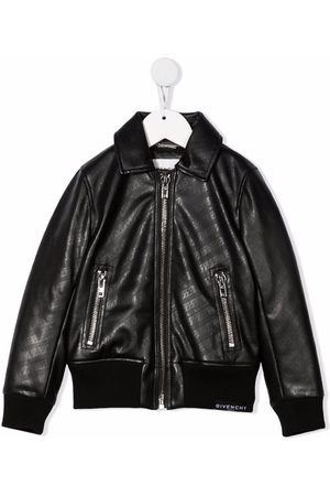 Givenchy Girls Bomber Jackets - Chain-link print bomber jacket