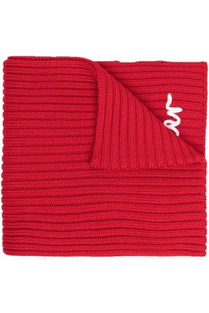Moncler Girls Scarves - Ribbed logo scarf