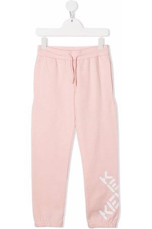 Kenzo Girls Sweatpants - Logo-print drawstring track pants