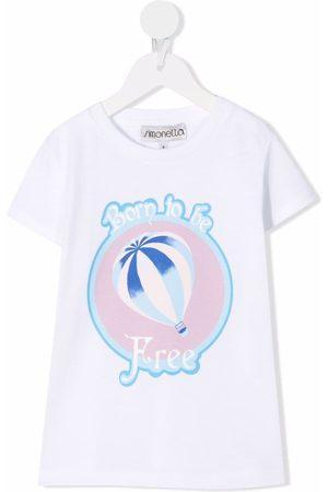 Simonetta Slogan-print short-sleeved T-shirt