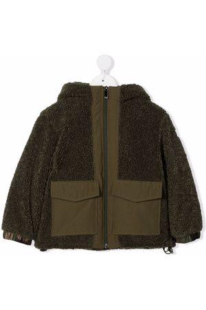 Il gufo Panelled teddy jacket