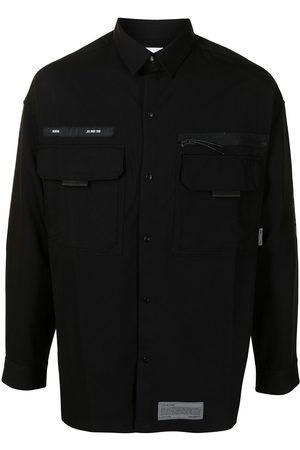 Izzue Logo patch multiple-pocket shirt