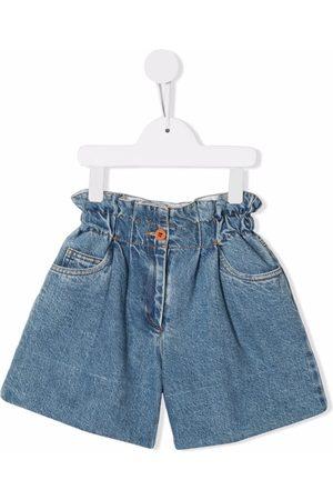 PHILOSOPHY DI LORENZO SERAFINI Girls Shorts - Elasticated denim shorts
