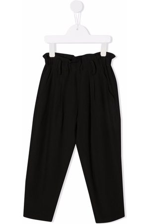 DONDUP KIDS Girls Straight Leg Pants - Ruched-detail straight trousers