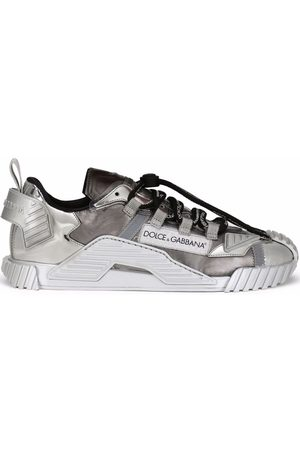 Dolce & Gabbana Metallic-effect lace-up sneakers