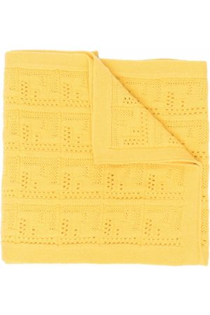 Fendi Pointelle-knit monogram scarf