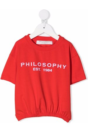 PHILOSOPHY DI LORENZO SERAFINI Logo-print elasticated-hem top