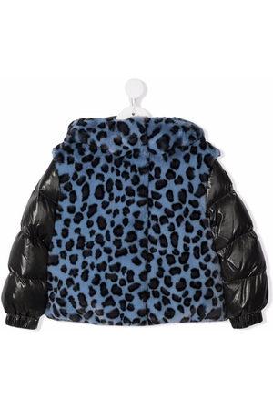 Moncler Faux fur padded jacket