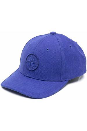 Stone Island Boys Caps - Embroidered-logo baseball cap