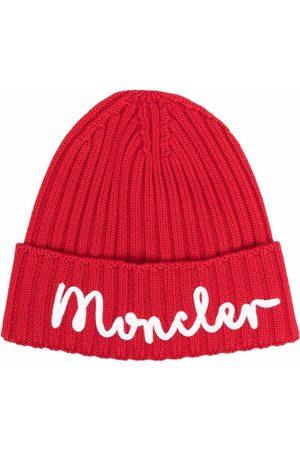 Moncler Logo folded wool beanie