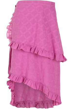 CLUBE BOSSA Women Asymmetrical Skirts - Feine wrap skirt