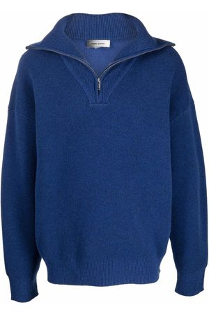 Isabel Marant Men Sweatshirts - Lewin half-zip knitted jumper