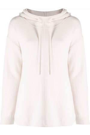 Luisa Cerano Women Hoodies - Knitted drop-shoulder hoodie - Neutrals