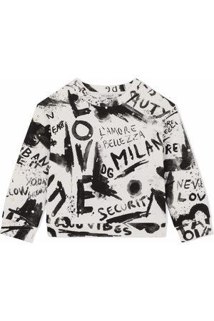 Dolce & Gabbana Graffiti-print embellished sweatshirt