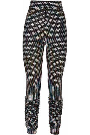 Dolce & Gabbana High-waisted motif-print leggings