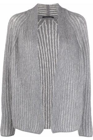 Luisa Cerano Women Cardigans - Chunky-knit wool-blend cardigan - Grey