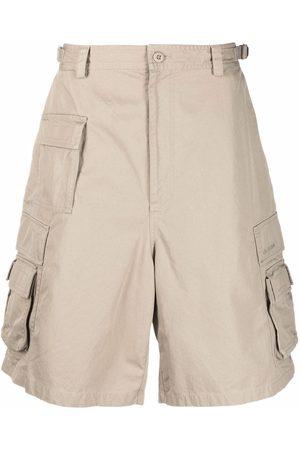 Balenciaga Men Shorts - Cotton cargo shorts - Neutrals