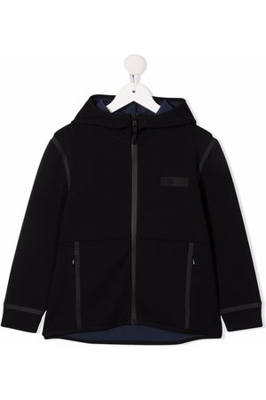 Il gufo Girls Hoodies - Logo-patch zip-up hoodie