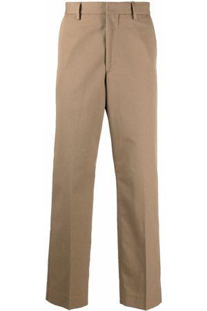 Acne Studios Tailored-cut straight-leg trousers - Neutrals