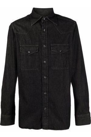 Tom Ford Men Denim - Spread-collar denim shirt
