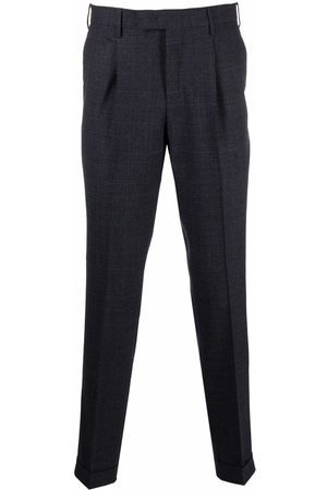 PT01 Checked tailored trousers - Grey