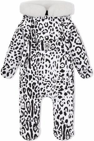 Dolce & Gabbana Ski Suits - Leopard-print hooded snowsuit