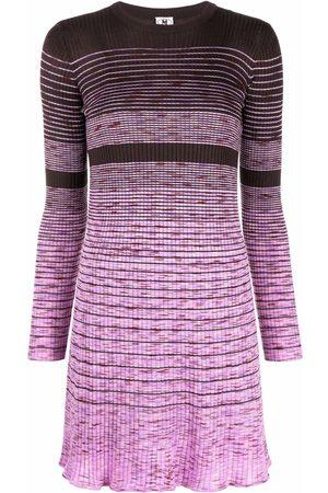 M Missoni Women Knitted Dresses - Knitted flared-hem minidress