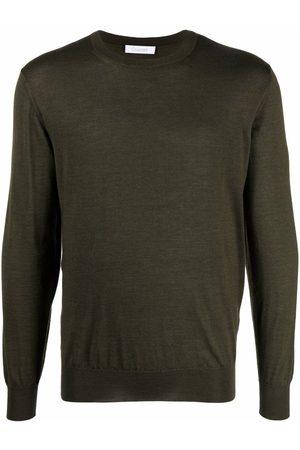 Cruciani Men Sweatshirts - Fine-knit ribbed-trim jumper