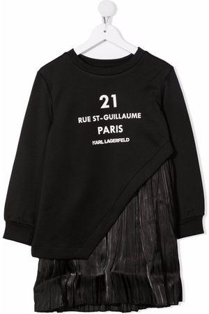 Karl Lagerfeld Girls Printed Dresses - Graphic-print contrast dress