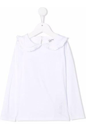 DOUUOD KIDS Girls Tops - Peter-pan collar cotton top
