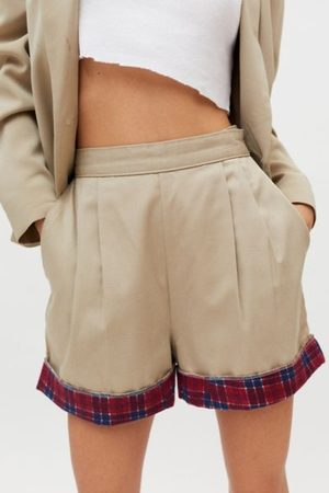Urban Women Chinos - Recycled Flannel Cuff Chino Short