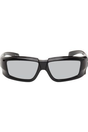 Rick Owens Men Sunglasses - Black & Silver Rick Sunglasses