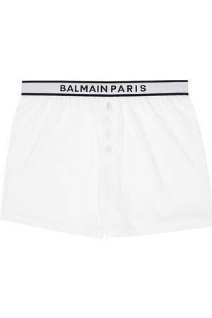 Balmain Men Boxer Shorts - White Cotton Boxers