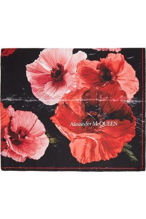 Alexander McQueen Women Scarves - Black Silk Exploded Paper Bloom Scarf
