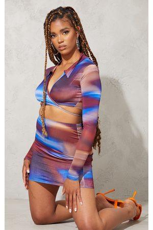 PRETTYLITTLETHING Women Party Dresses - Ombre Slinky Mini Skirt