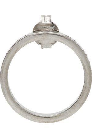 Maison Margiela Men Studs - Silver Circle Number Logo Single Earring